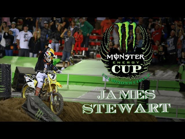 Monster Energy Cup Champions Circle - James Stewart