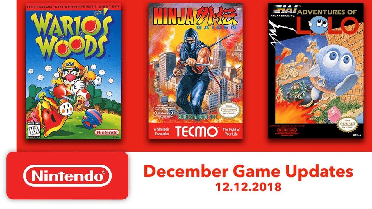 Nintendo Entertainment System December Game Updates