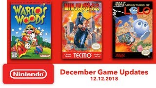 Nintendo Entertainment System - December Game Updates - Nintendo Switch Online