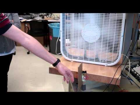 Cooling fan tracks humans.