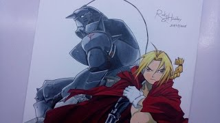 Time Lapse Drawing - Edward and Alphonse Elric from