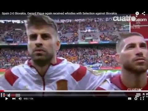 Spain 2-0 Slovakia. Gerard Pique again received whistles with Selection against Slovakia
