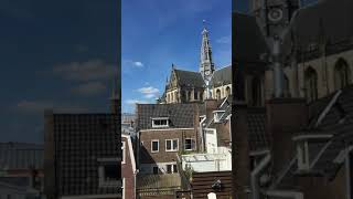 Beautiful Church in Haarlem, Netherlands. ハールレムの教会の鐘の音色