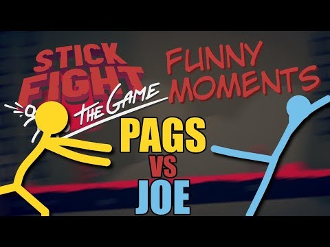 Stick Fight Showdown: Pags VS Joe! Funny Moments Montage!!
