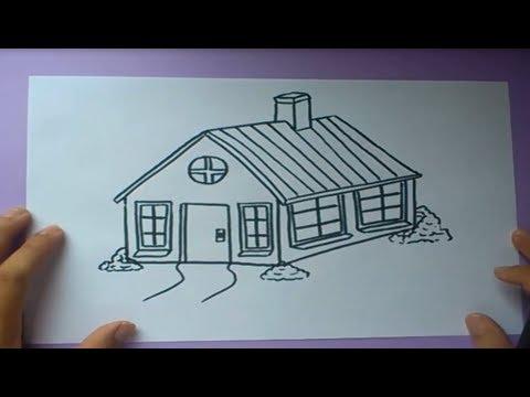 Como Dibujar Una Casa Paso A Paso How To Draw A House Youtube