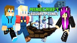 Minecraft SQUARE PLANET SURVIVAL 2 - Plądrujemy hardcorowy Statek!  #5 ⚔️