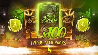 WE PACKED A SCREAM CARD! 100 x 2 PLAYER UPGRADE PACKS - FIFA 20 Ultimate Team