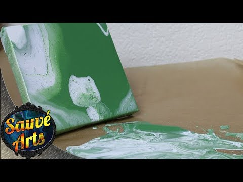 Fluid Acrylic Painting - Pigment Density Experiment
