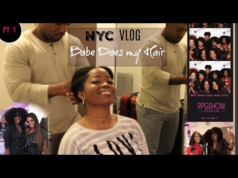 My Trip to New York VLOG | My BOYFRIEND Does MY NATURAL HAIR: Part 1