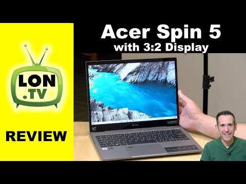 Acer Spin 5 Laptop Review - 2020 / 2021 Two in One with 3:2 Display - SP513-54N-74V2
