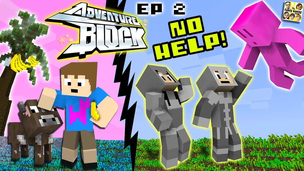 Adventure Block - Episode 2 - NO HELP! (Season 1 | FGTEEV MINECRAFT MINI-SERIES SHOW)