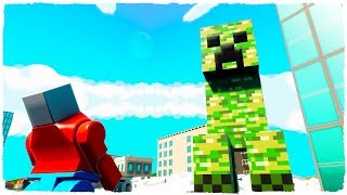 ¡SUPERVIVENCIA CREEPER! BRICK RIGS - DESAFÍO DE LEGO MINECRAFT