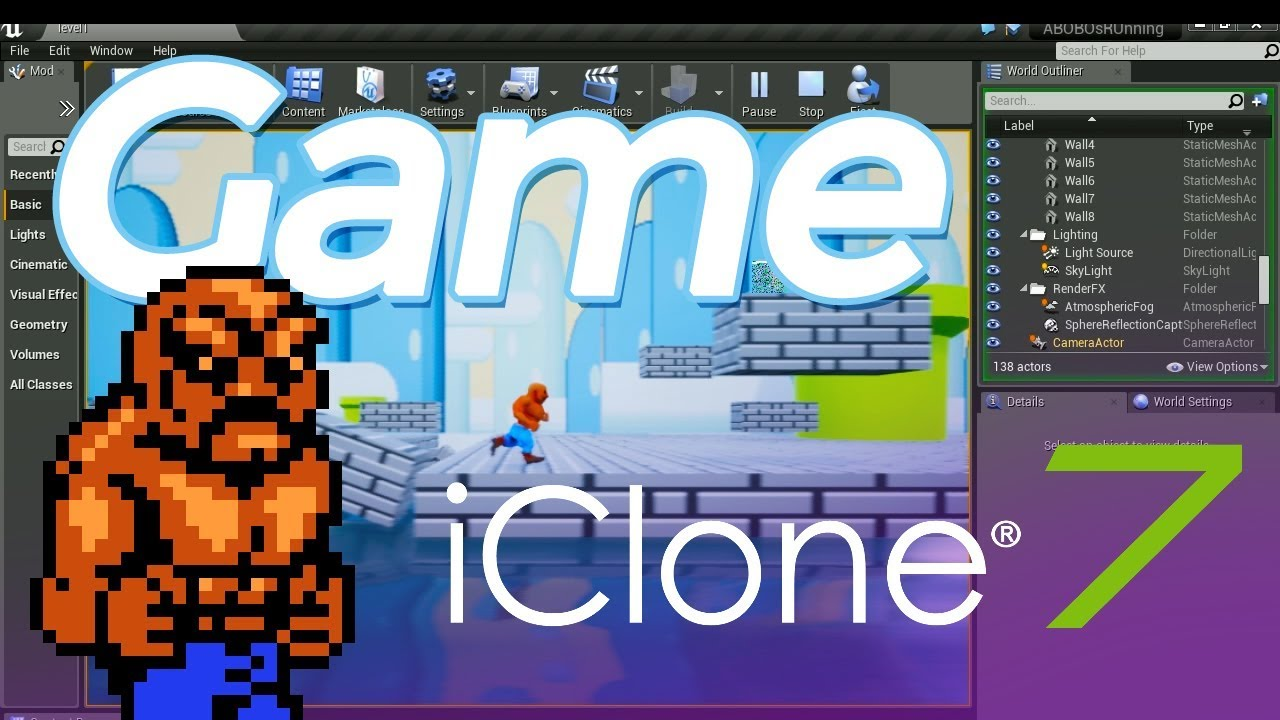 iClone 7 Game - Unreal Engine 4 ( I imported 3D models from character  creator FBX )