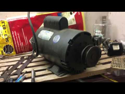 Lesson Electric Compressor Motor 3 HP 3450 RPM - YouTube