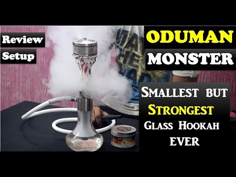 Oduman Monster Clear Glass Shisha Review | Unboxing | Setup | Cheap Imported Hookahs in India |Delhi
