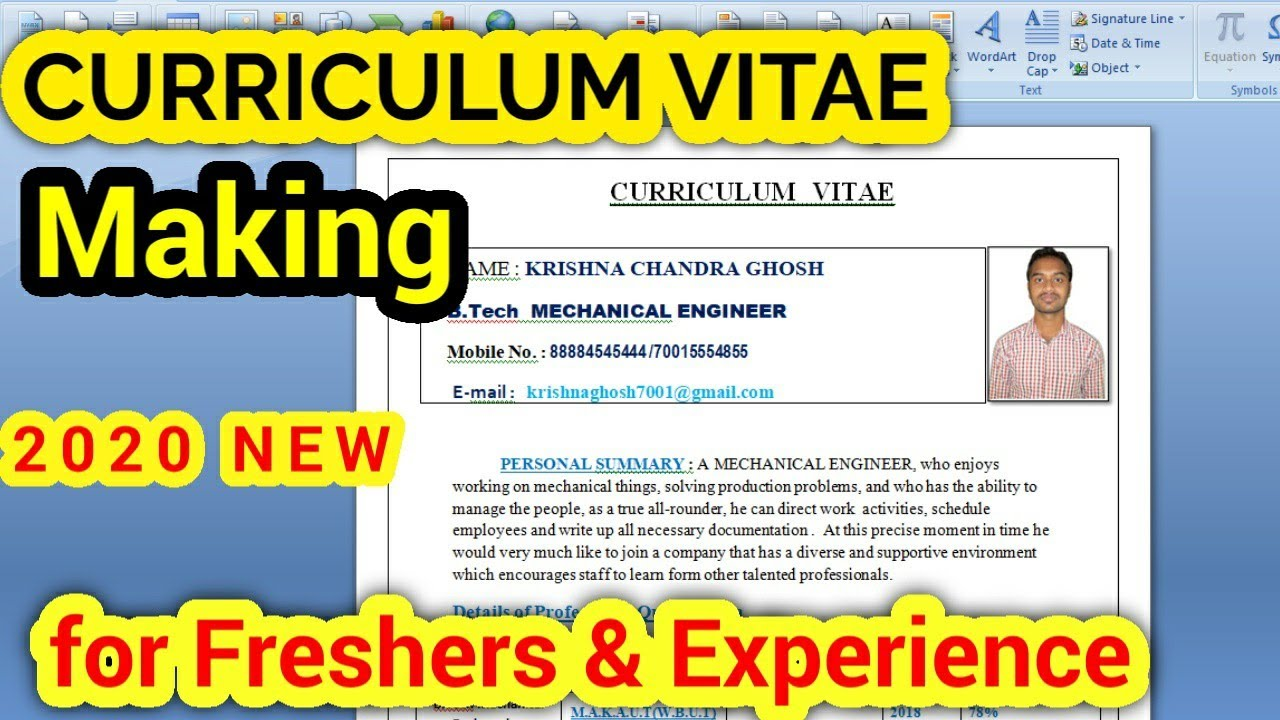 How To Make Cv In Wordpad Resume For