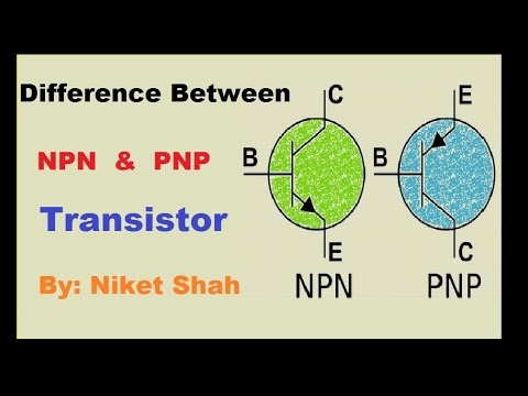 Npn And Pnp Transistor Difference Youtube