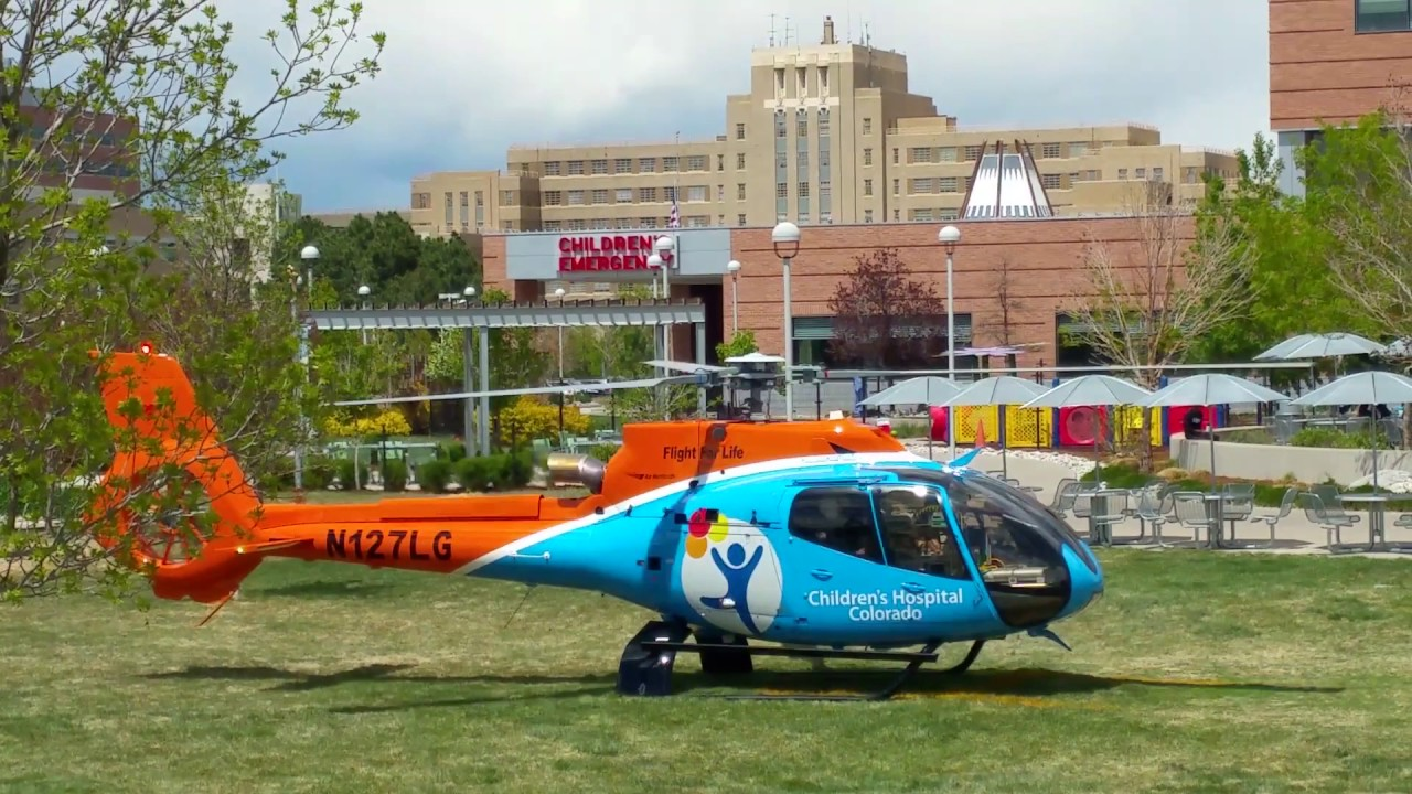 Children's Hospital Colorado Helicopter Start up - YouTube