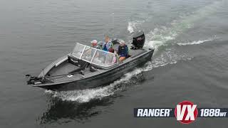 Ranger Aluminum VX1888WT  Deep V On-Water Footage