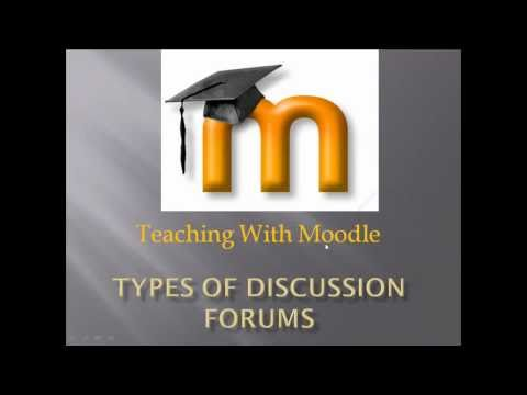 Moodle Training: Types of Discussion Forums