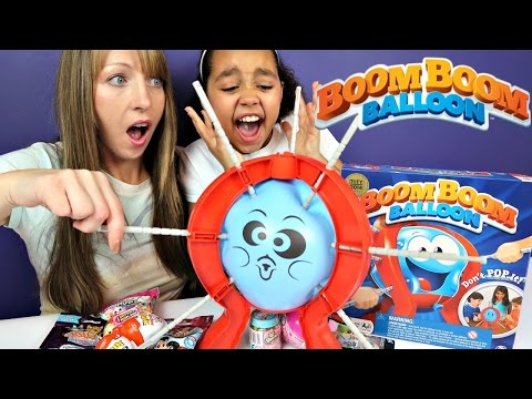 Thumbnail: Boom Boom Balloon Toy Challenge Game - Shopkins - Surprise Eggs - Hello Kitty Toy Opening
