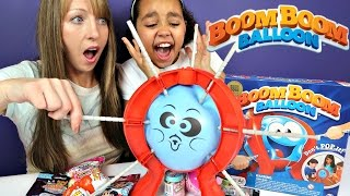 Boom Boom Balloon Toy Challenge Game - Shopkins - Surprise Eggs - Hello Kitty Toy Opening