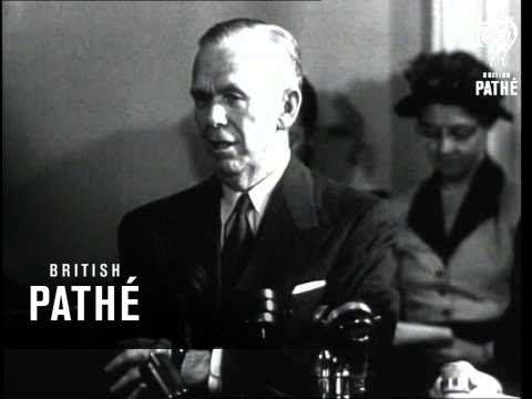General George Marshall Speaks Before The House Foreign Affairs Committee 1949