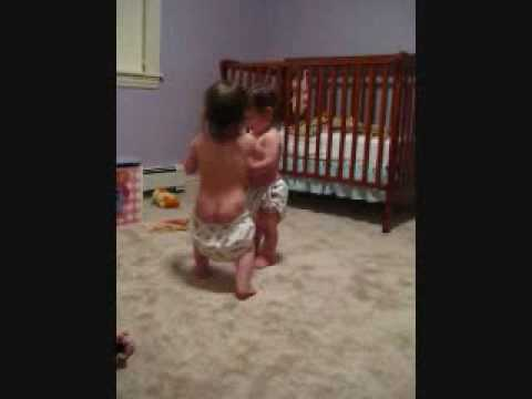 Twins fighting over a phone