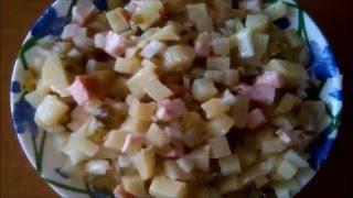 Картофельный Салат! 👍 Potato Salad. 🍗 Салат из Картошки за 5 минут! Супер вкусный картофельный салат