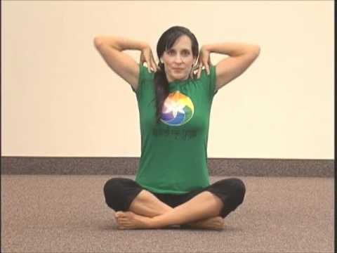 simple 1 min yoga pose for beginners  beyond 5th chakra