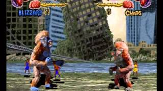 Primal Rage Playthrough - Blizzard Sega Saturn