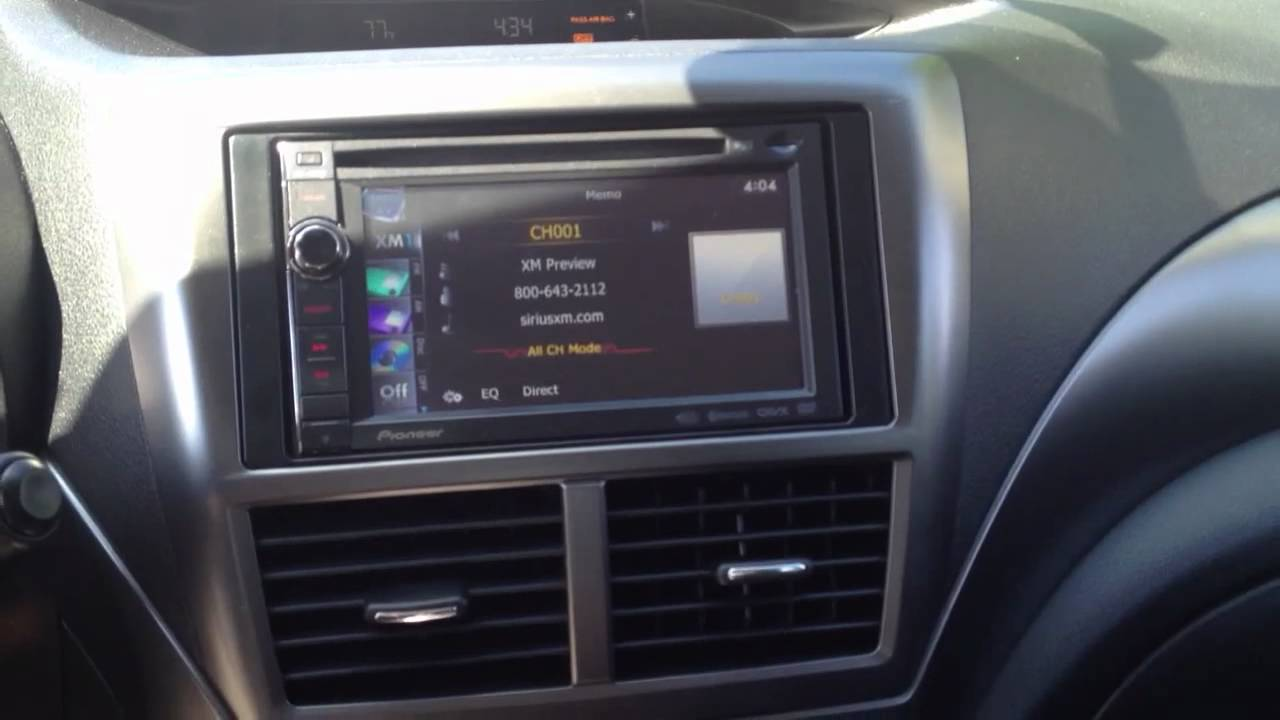 Subaru Outback With Pioneer Double Din Radio Youtube