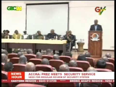 Accra: President Meets Security Service