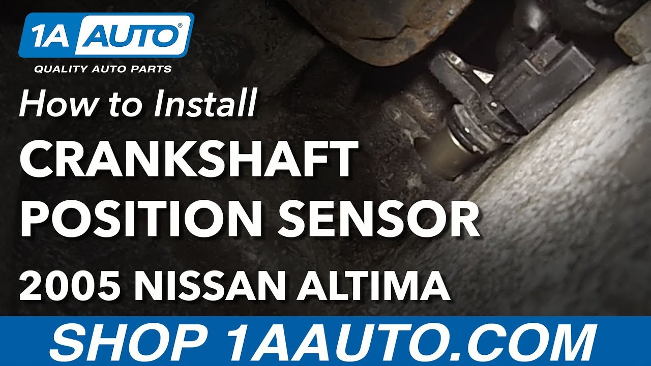 How to Replace Crankshaft Position Sensor 0206 Nissan Altima L4 25L  YouTube