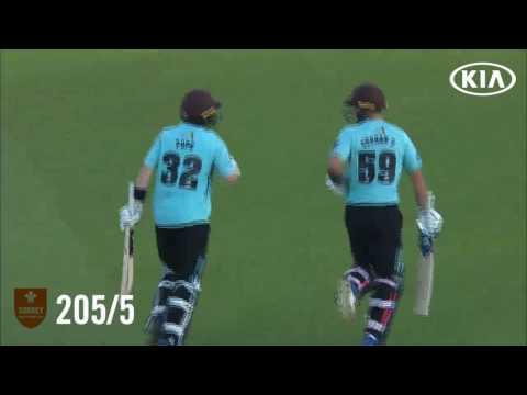 Highlights: Surrey v Kent - Natwest T20 Blast