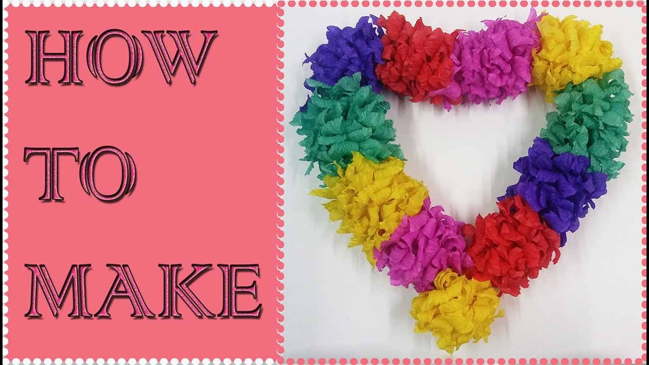 How To Make Tissue Paper Garland Easy Tutorial
