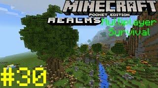 Realms Multiplayer Survival Ep. 30 - FOREVER RAIN PROBLEM (DD) - Minecraft PE (Pocket Edition)