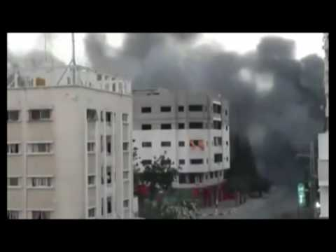 Raw Building Collapses After Gaza Airstrike