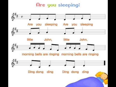 Nursery song with lyrics - Are you sleeping? - YouTube - photo#39