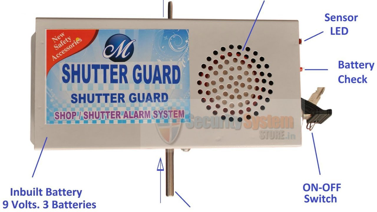 Shutter Alarm Security System For Shops Just For Rs 1250 Youtube