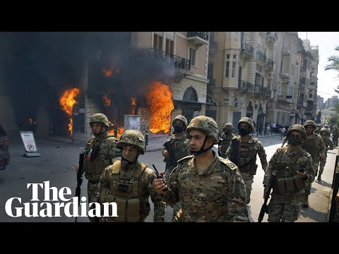 Banks set on fire in Lebanon during deadly riots