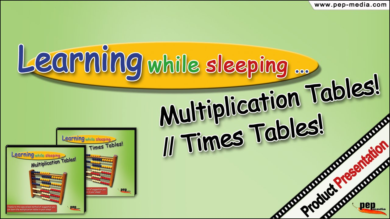 Learning while sleeping multiplication tables times tables learning while sleeping multiplication tables times tables gamestrikefo Choice Image