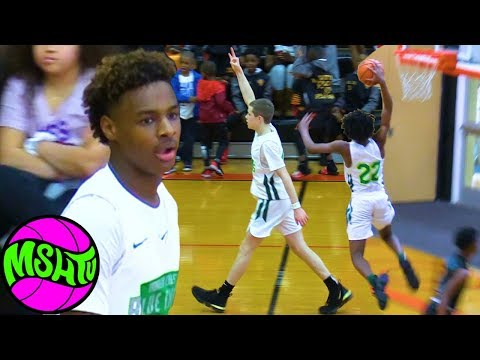 Bronny & Blue Chips PUT ON A SHOW vs tough Florida Team at Battle For Magic City