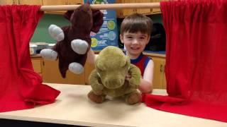 Dinosaur Puppet Show! Christian County Library fun in Ozark MO.