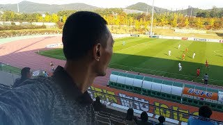 Watching football match at Hwaseong Sports Ground's Auxiliary Stadium, 19 Oct 19, 153824