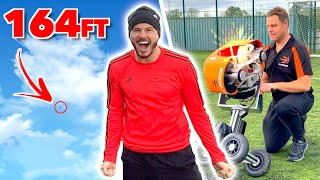 WORLD RECORD TOUCH CHALLENGE! | OVERPOWERED BALL LAUNCHER 😳⚽💥