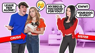 Having My SISTER Be MEAN To My CRUSH To See How She REACTS *Emotional PRANK* |Jentzen Ramirez