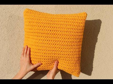 Poduszka Na Szydełku Ze Sznurka Bawełnianego Pillow On Crochet