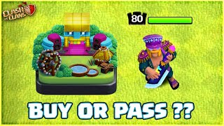 BUY OR PASS THE NEW KING SKIN & SCENERY IN CLASH OF CLANS