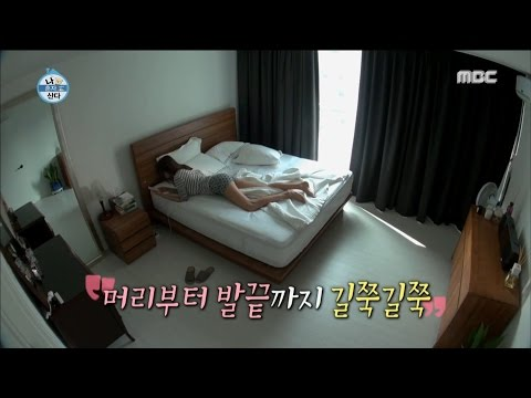 [I Live Alone] 나 혼자 산다 - Han hyejin, To open the curtains using a long leg! 20160729